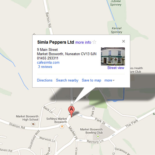 Map Simla Peppers Indian Restaurant image
